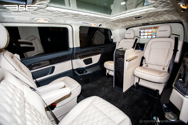 Luxury Mercedes V Class Interior Space